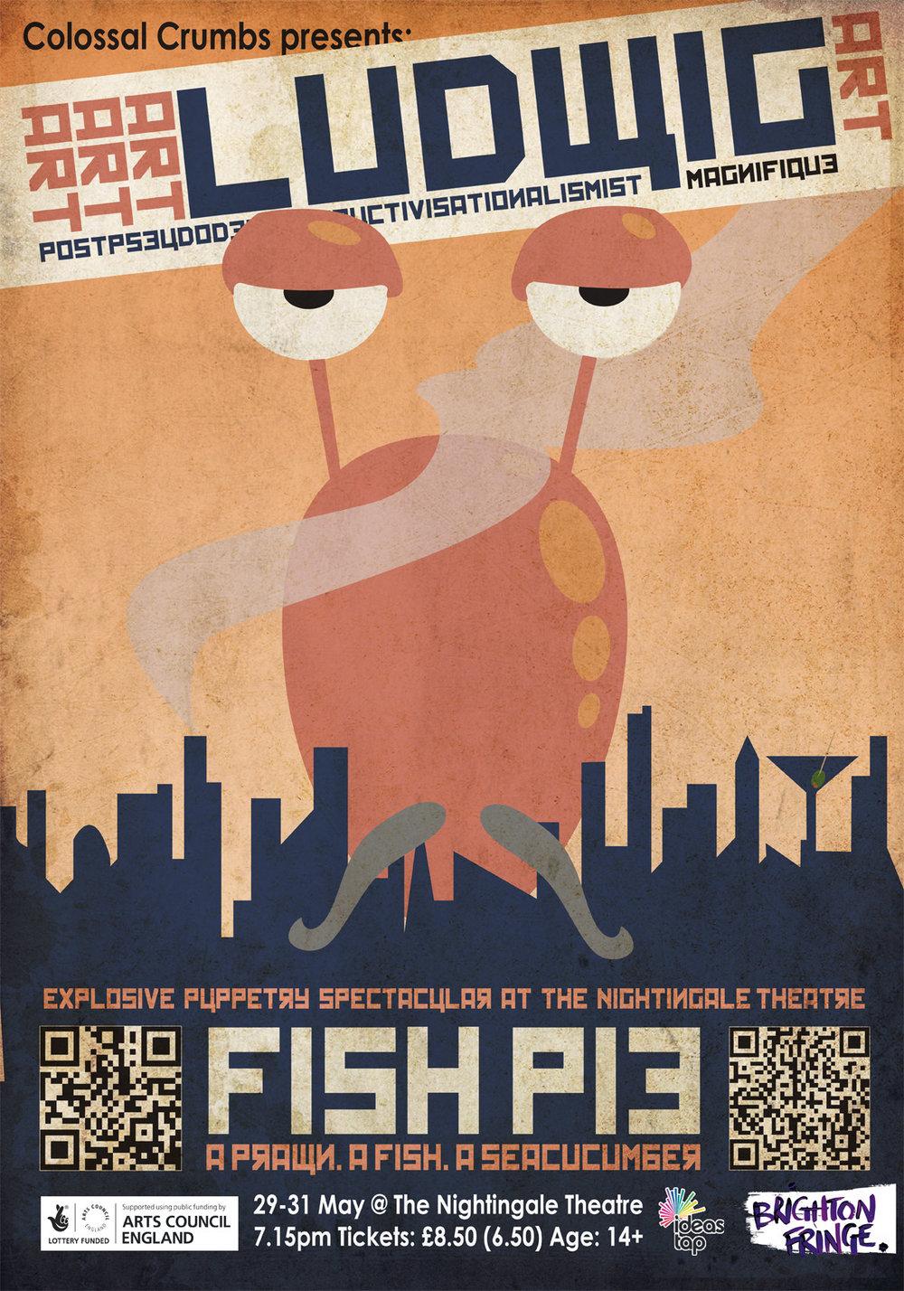 Poster: Festival Fringe best Poster/flyer award - Ulysses Black