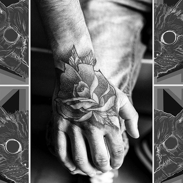 Everyone loves a hand tattoo these days!  #owlcat #owlcattatto #tattoo #tattoos #tattooworkers #tattooartist #tattoosofinstagram #uktta #aberdeen #aberdeencity #scotland #fun #art #ink #tatmaps #bestofbritishtattoo #sonya7 #seeninthedeen #tattooist #artist #solidink #granitecity #handjammer #jobstopper #handtattoo