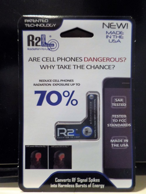R2L Radiation-to-Light Cell Phone Piece