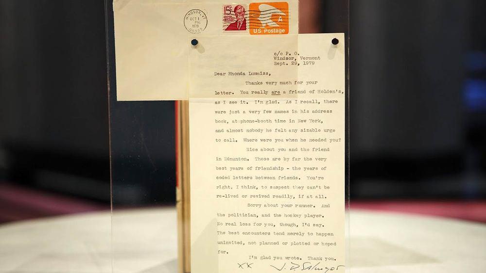 Letter from J.D. Salinger