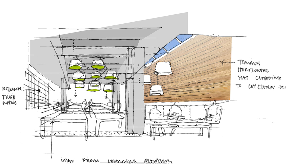 Concept sketch - refectory