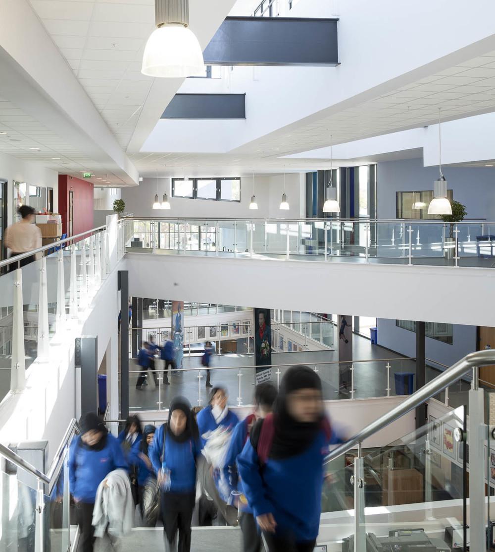 Central atrium space