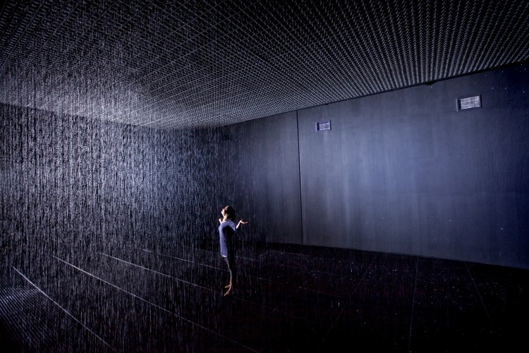 Rain Room at the Barbican