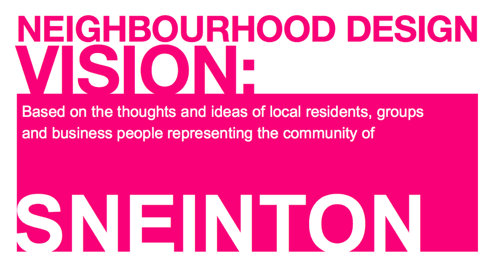 A Design Vision for our neighbourhood