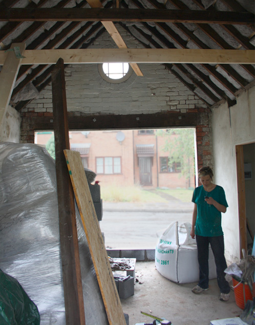 Work underway on the 'eco garage'