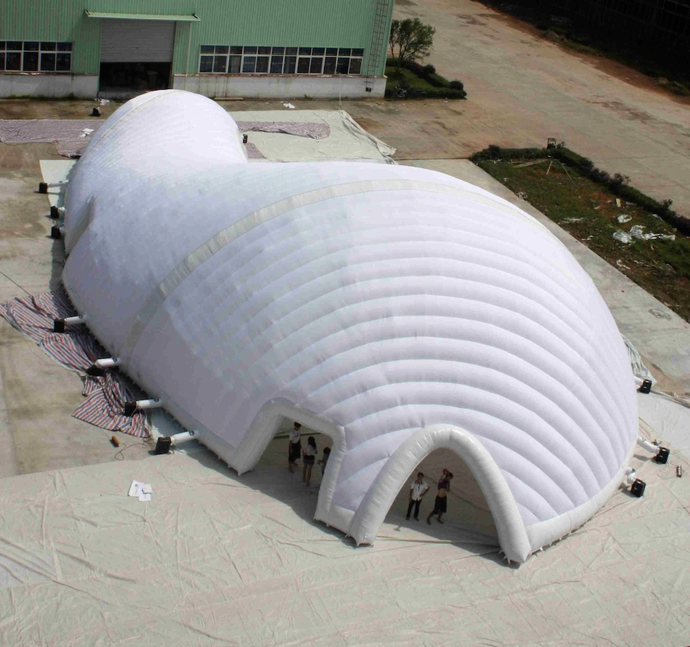 Testing our new inflatable pavilion