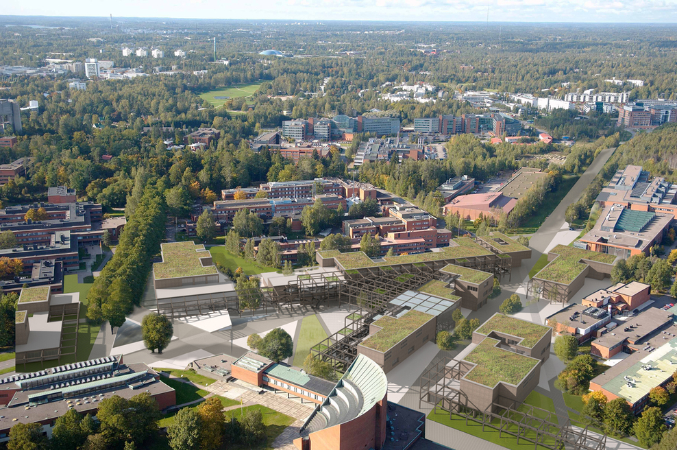 Overview of our proposal within the Aalto Campus