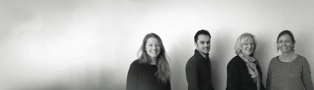 The  Haptisk  team (from left: Thea Collett, Thibaut Devulder, Brit Bødtker and Mona Wendelborg)