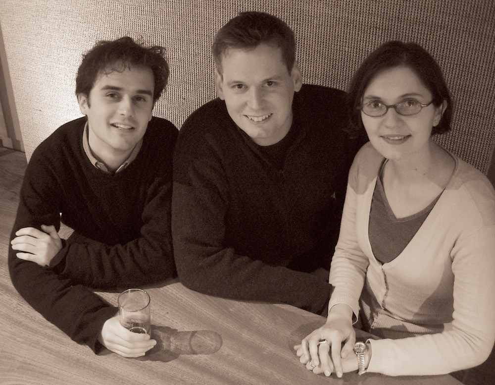 A fresh faced 2hD: as we were in 2003... (from left: Thibaut, Tom and Alina)