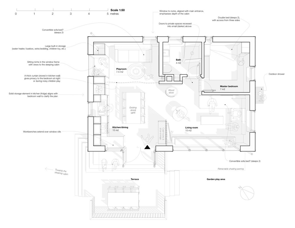 The proposed plan for the main cabin (click for full size)