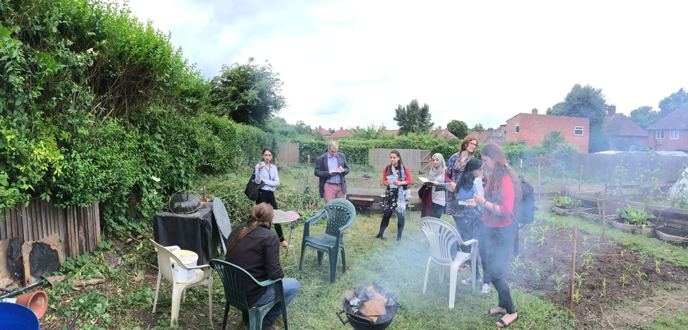 Visiting local community project Growin' Spaces at Dale Allotments in Sneinton