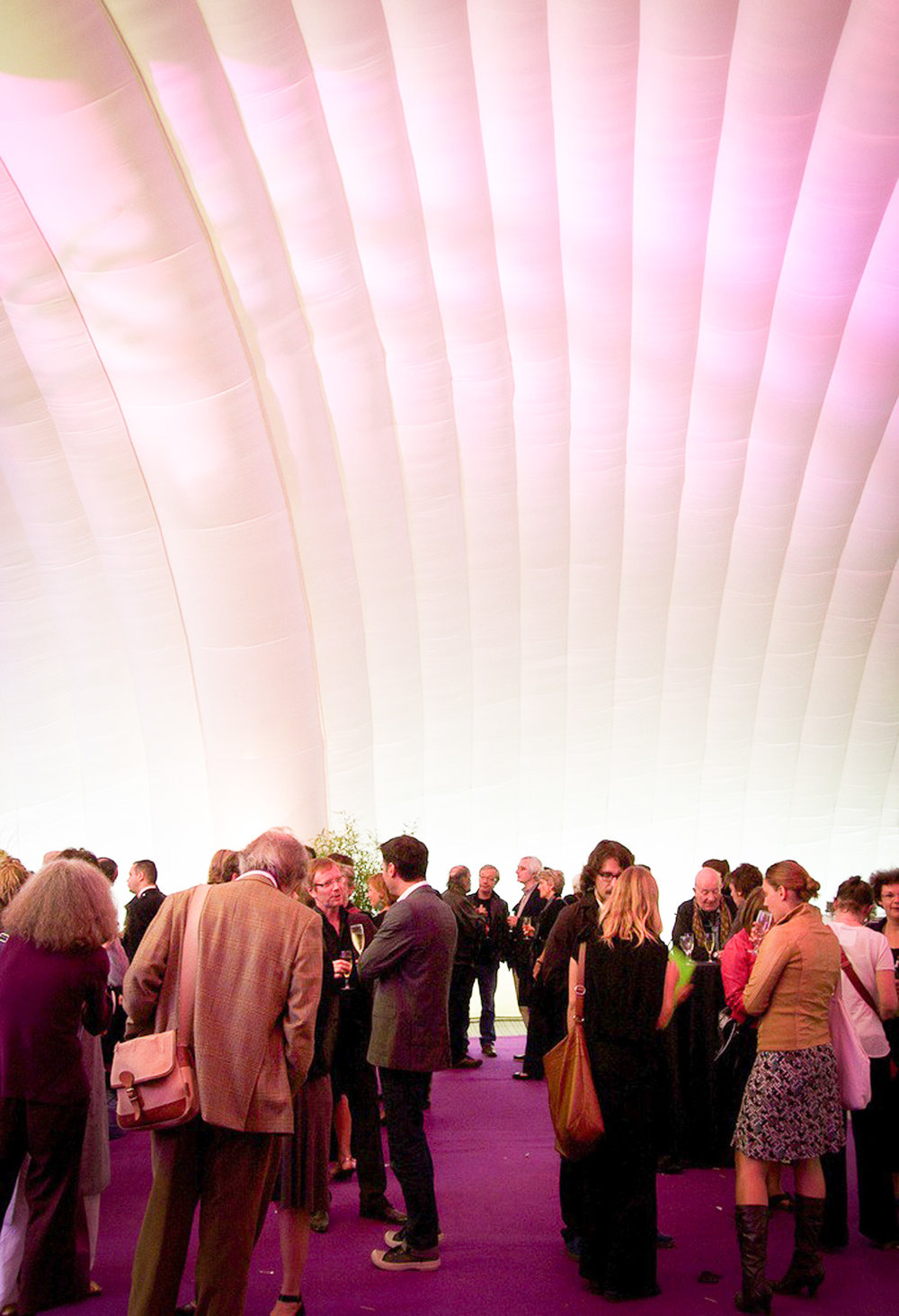 Internal view of the structure during the reception