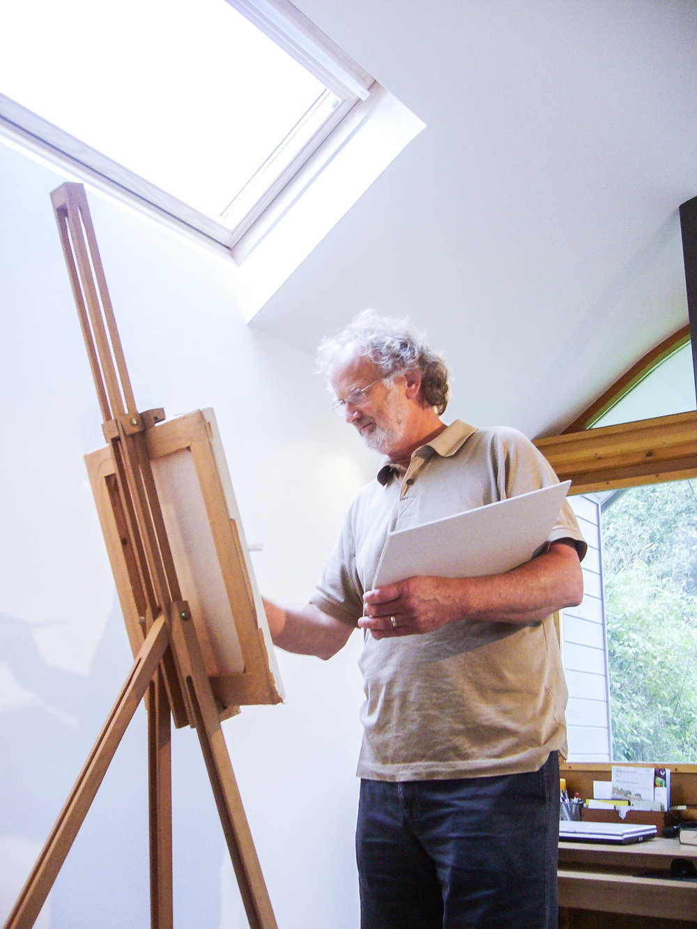 Our client was delighted with the thermal comfort and the quality of natural light in his new studio