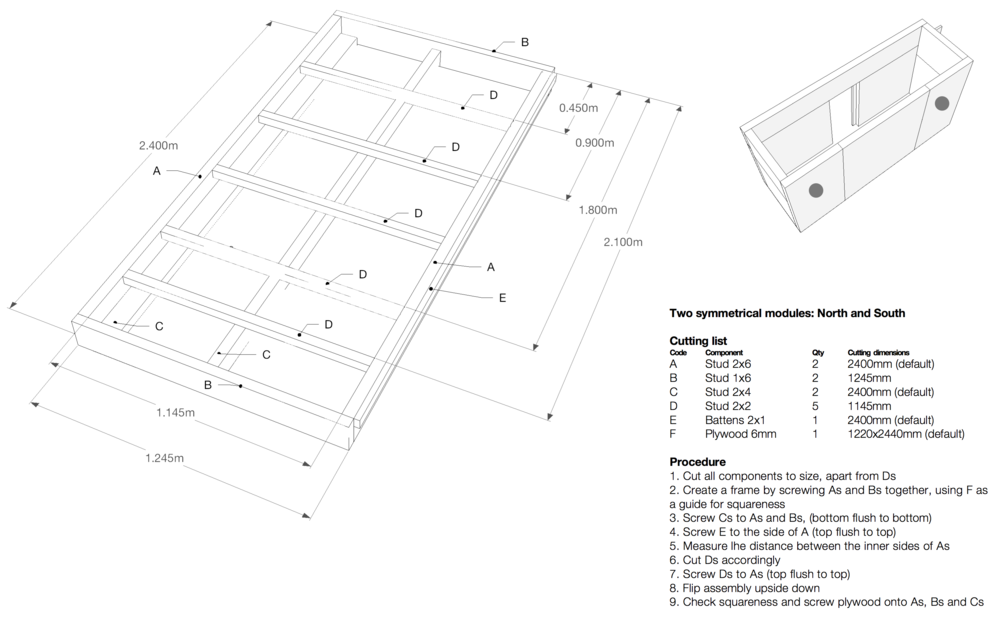 One of the prefabrication manuals: we created one for each timber panel