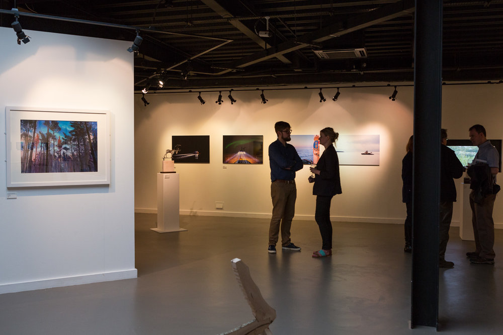 View from the Adventures group exhibition preview  2014 Rheged Centre, Lake District, UK