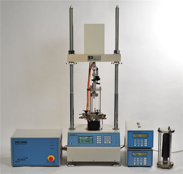 A multi axis test system setup using the DSC2000 dynamic controller