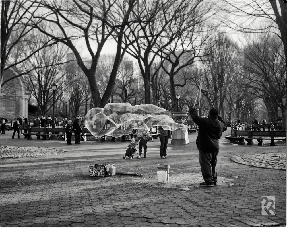 Tack-sharp 4x5 image from Central Park in NYC, shot on a MeFOTO Backpacker tripod. © Matt Hill