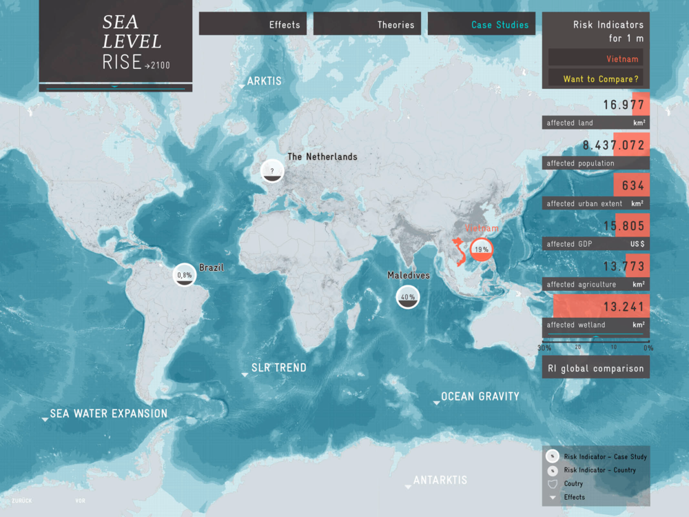 Sea-Level Rise  website prototype