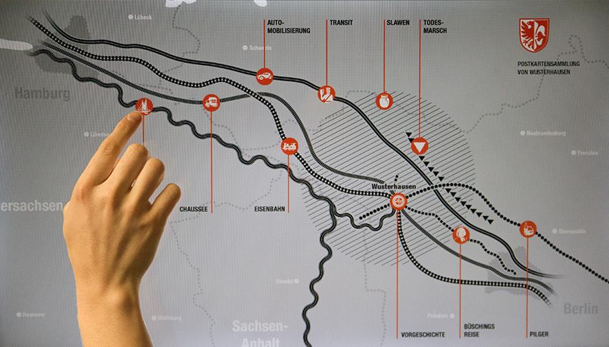 Terminal Wege-Museum Wusterhausen  multitouch app