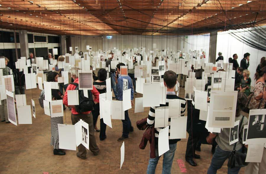 50 years European Fluxus Festivals exhibition design