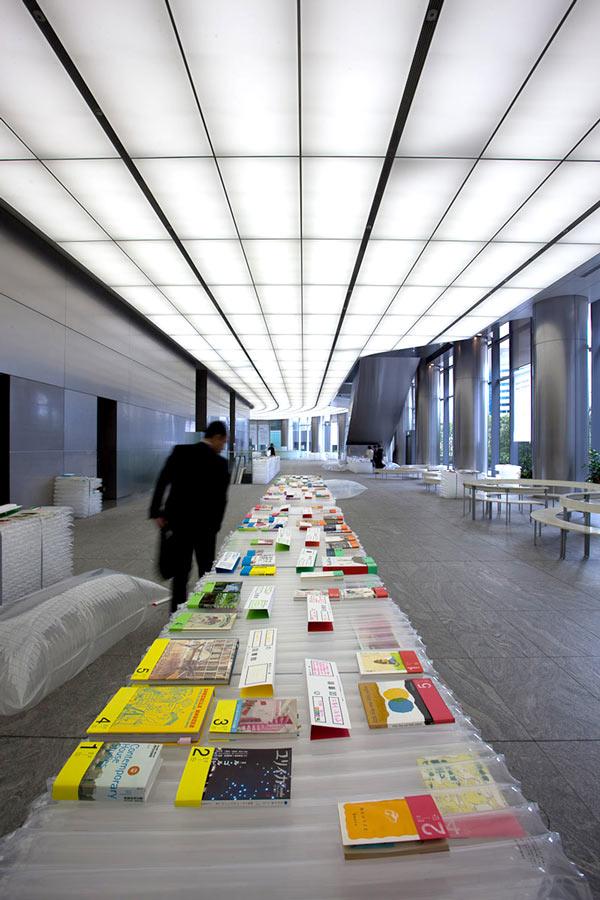 Dentsu Entrance Library exhibtion design