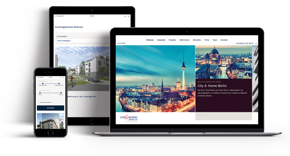 City & Home  responsive portfolio for a real estate agency