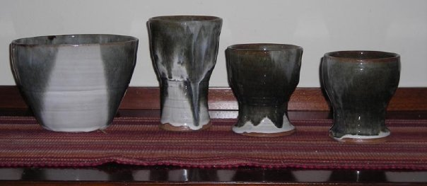 Beginner goblets and bowl - 2006