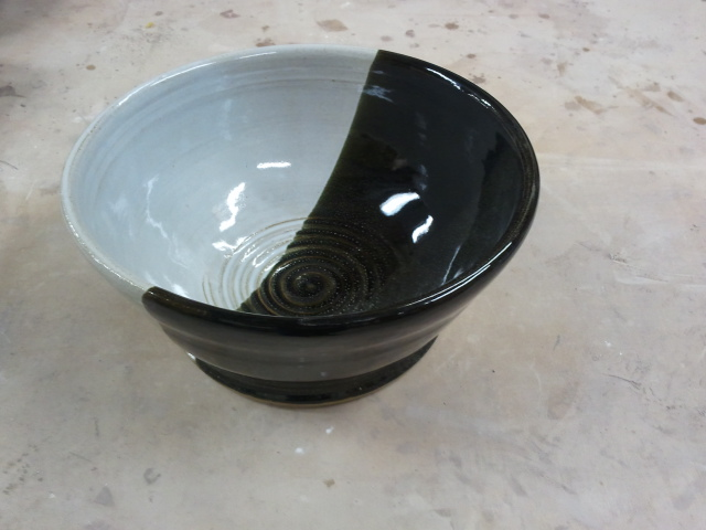 Black and White mixing bowl