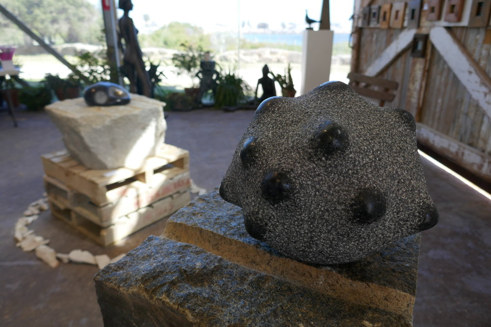 Meteorite  / 28X25x25, Granite (Private Collection, Australia) 2016