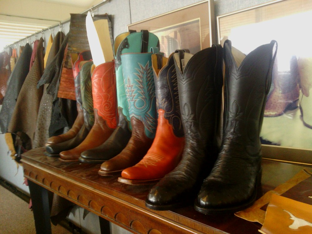 ome Leverett boots on display