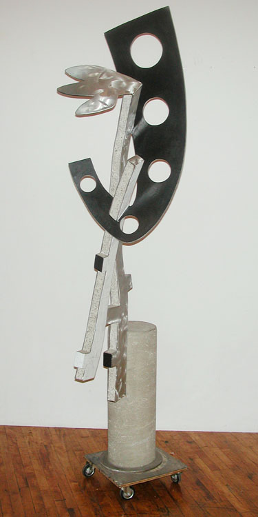 "Sometimes Somewhere     1999   Concrete, Aluminum, and Acrylic Urethane  88"" x 23"" x 25""  (D-213)"
