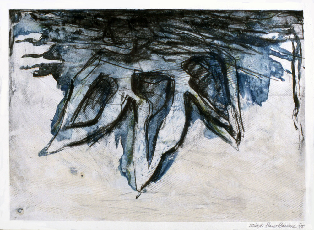 "Untitled    1995   Alkyd and graphite on paper  24"" x 18""  (C-436)"