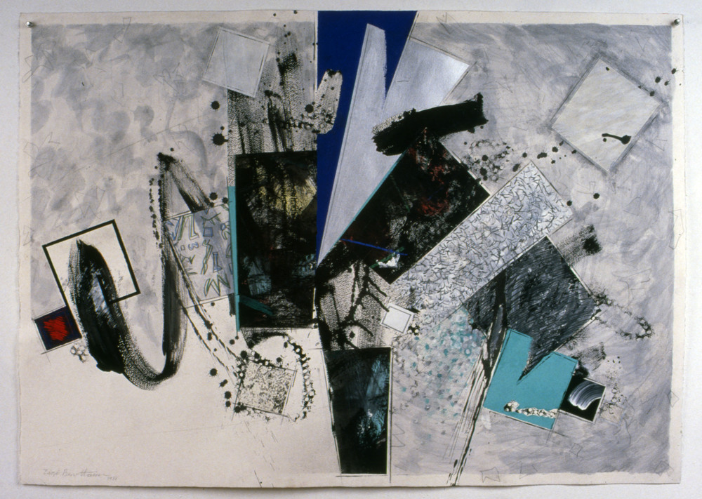"Untitled    1988   Synthetic charcoal, oil stick, and acrylic on paper  41.5"" x 29.5""  (C-185)"