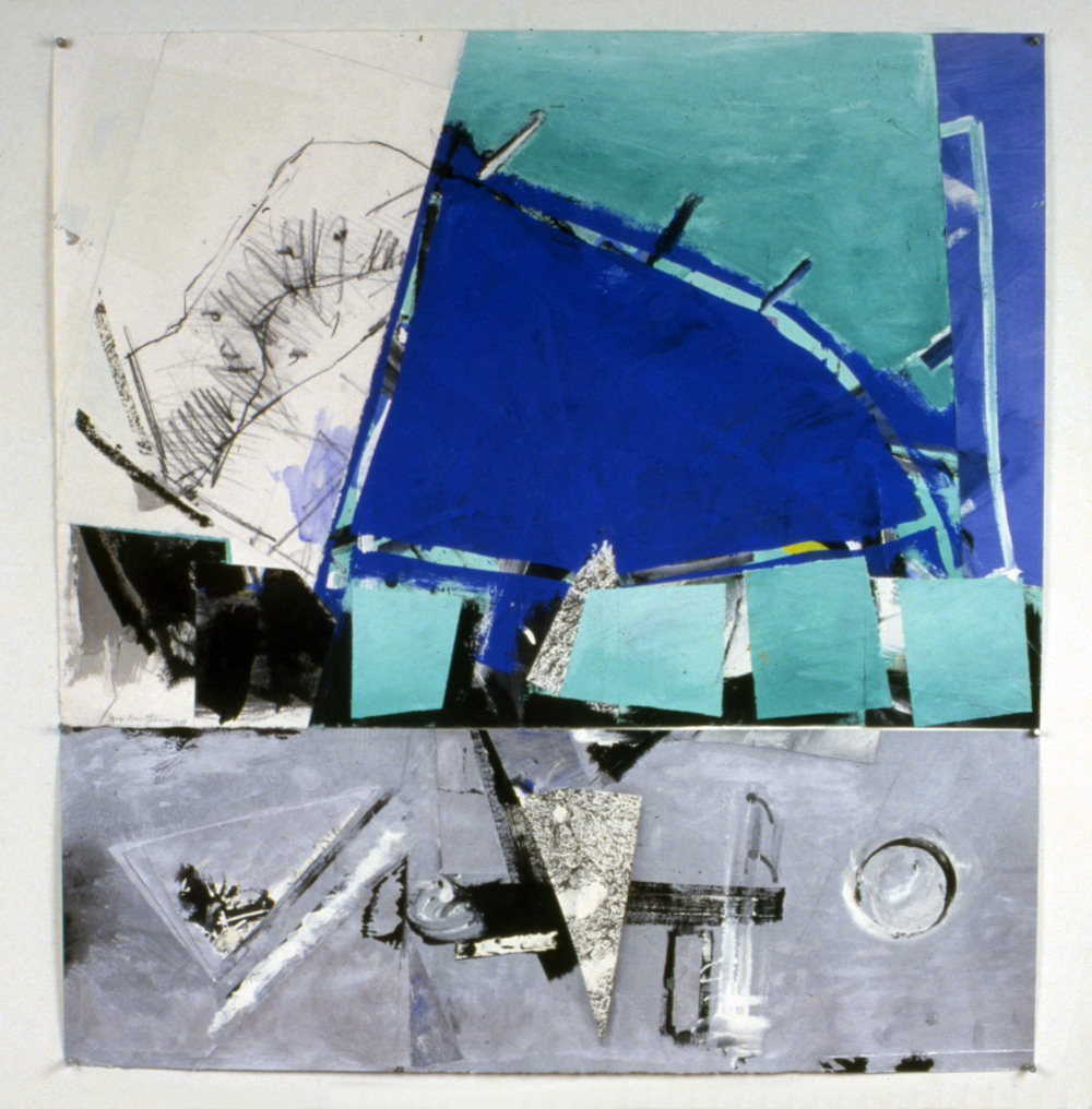 "Round Trip to Fishkill 12    1988   Synthetic charcoal, oil stick, and acrylic on paper  39"" x 41.5""  (C-113)"