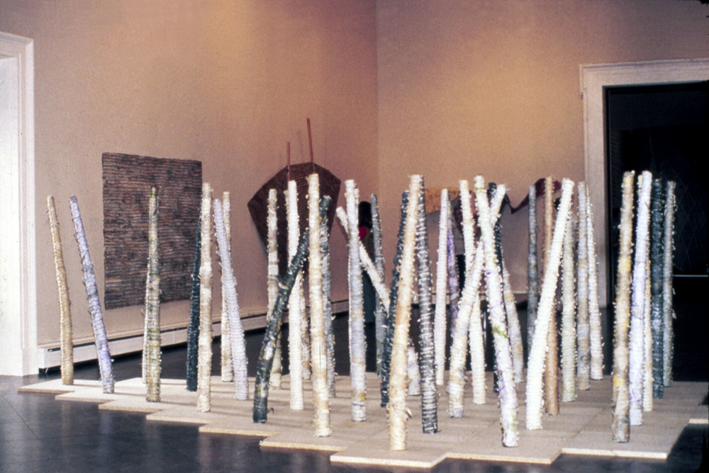 "The Tree     1980  Paper, Concrete, and Pigments   167"" x 238"" x 66""    (  D-11)   On Exhibit at The Albright Knox Museum, Buffalo, NY"