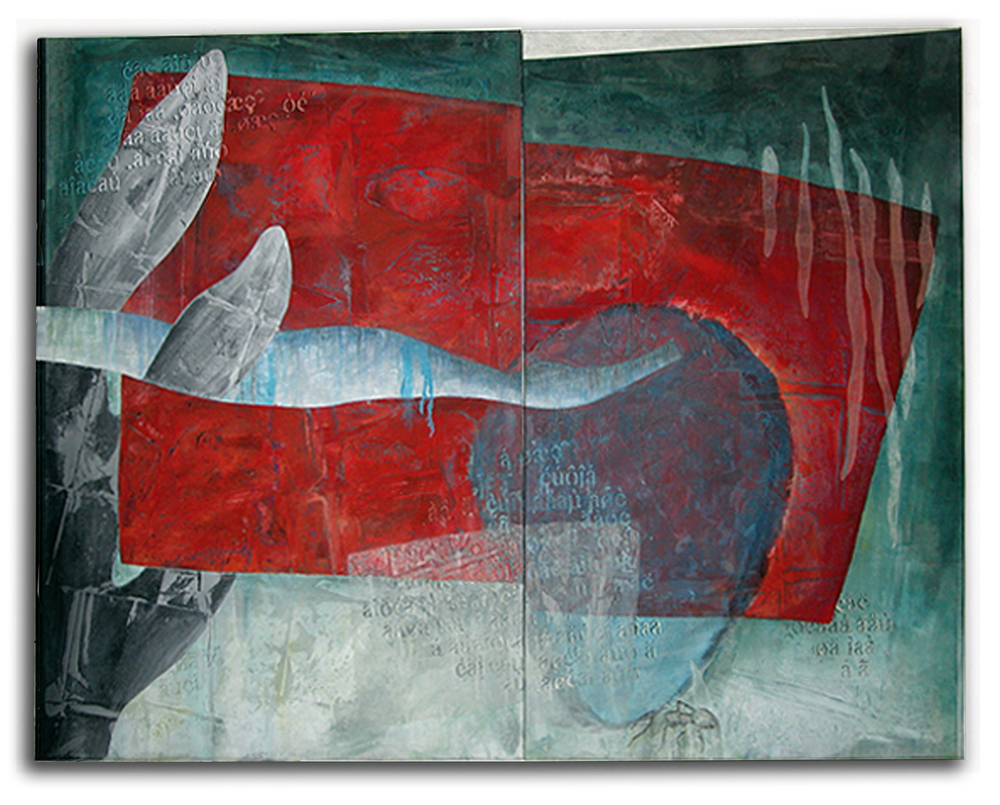 "Red Sea    2000  Oil on Aluminum  72"" x 94  (NB-14)"