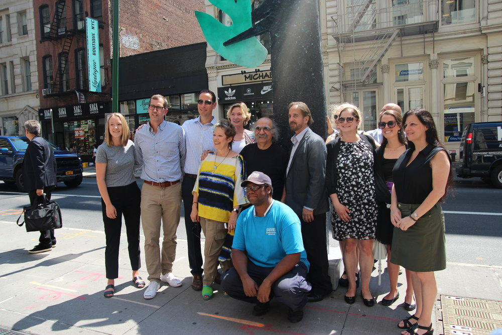 Zigi Ben-Haim with the SoHo Broadway Initiative and the New York Department of Transportation