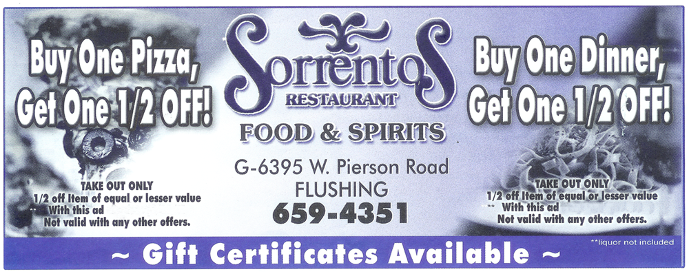 Print this coupon and bring it in when you order take out.