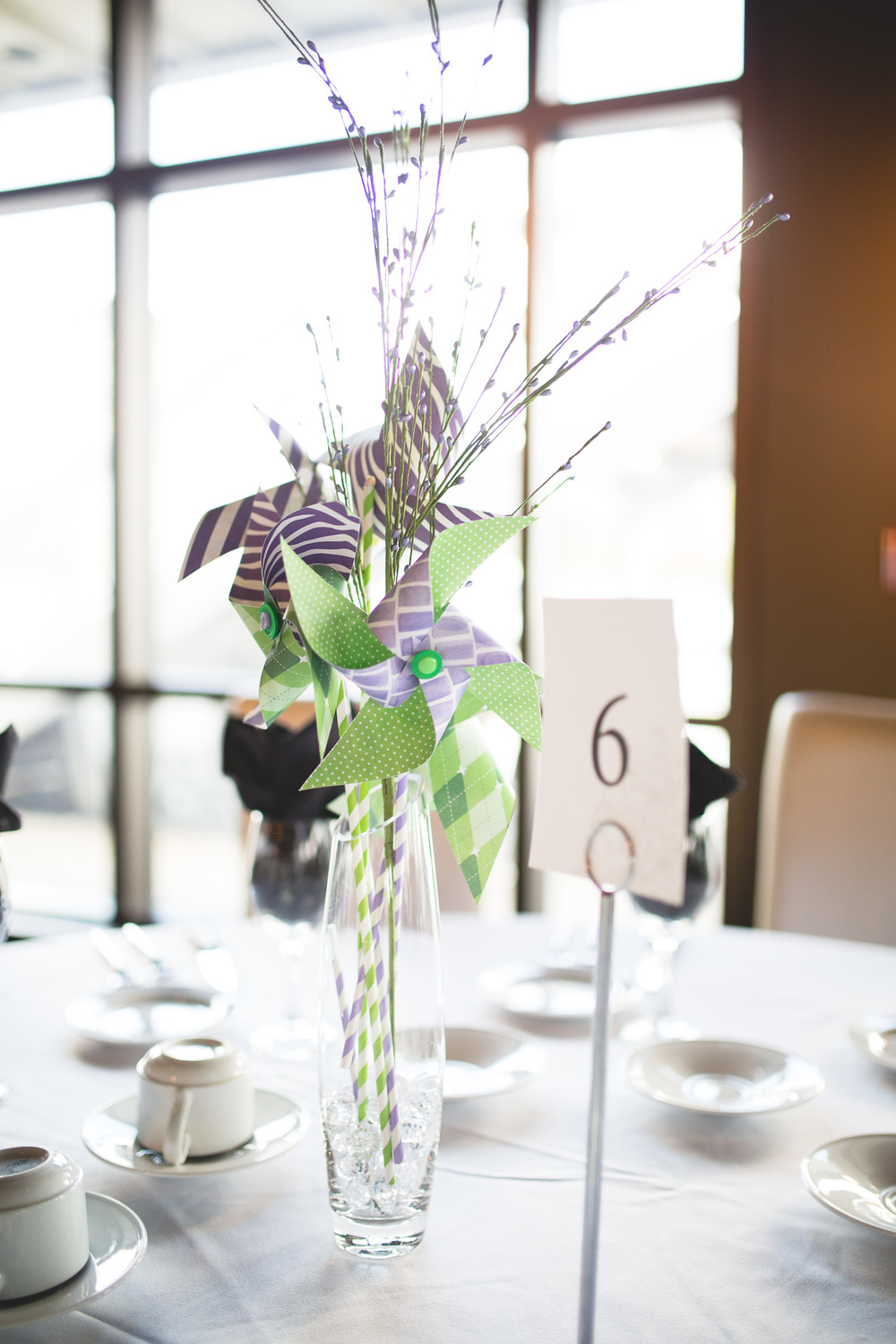 Pinwheel-Centerpiece-Wedding