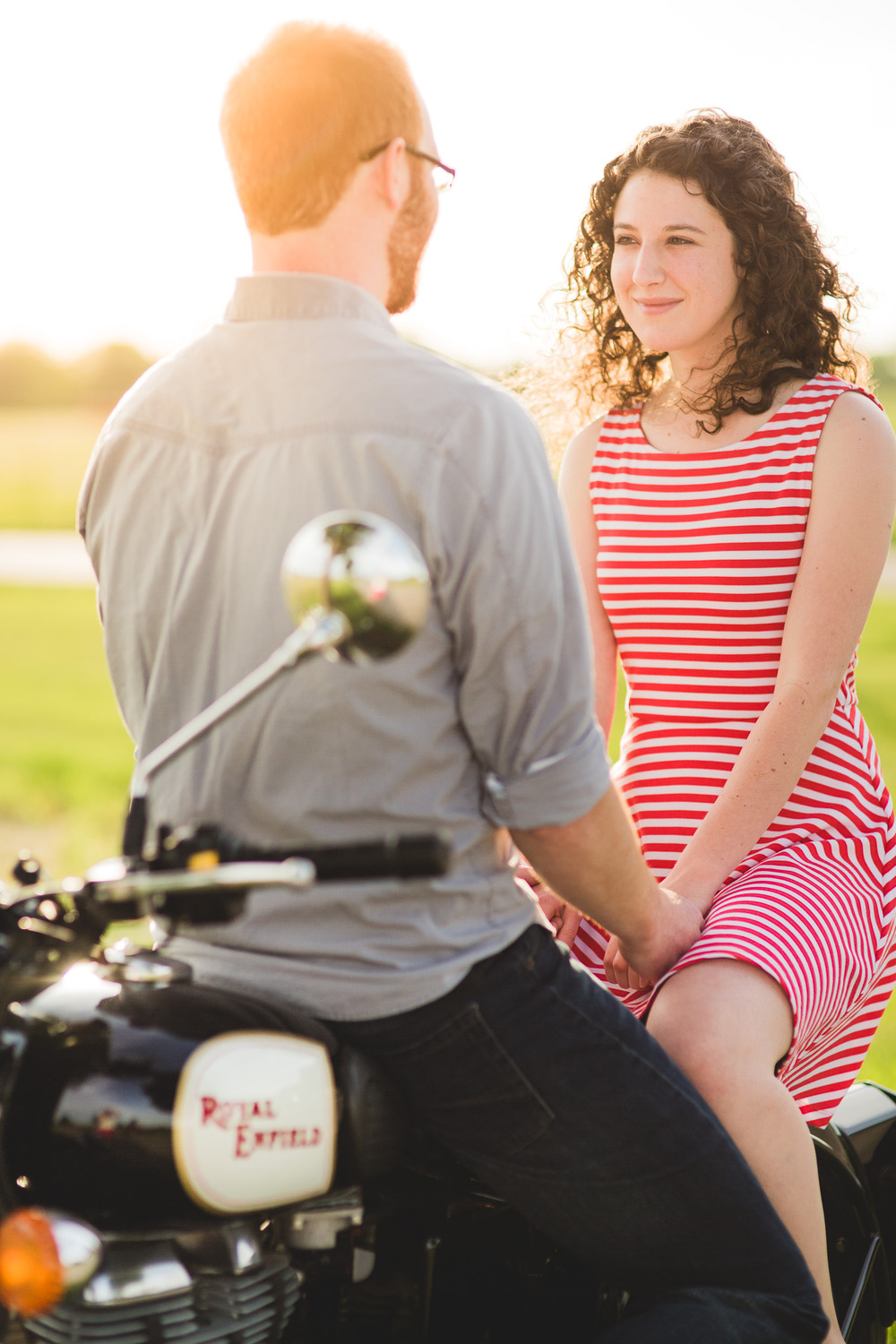 Engagement-Photos-Motorbike-Vintage