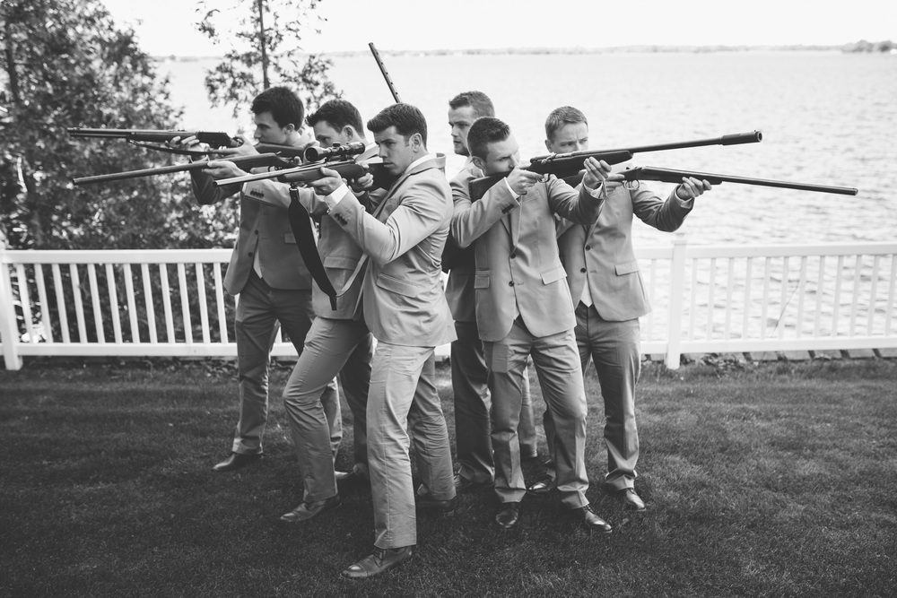 Wedding-Groomsmen-Guns-Rideau-Lake
