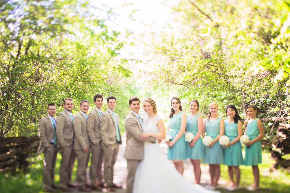 White-Beige-Blue-Bridal-Party