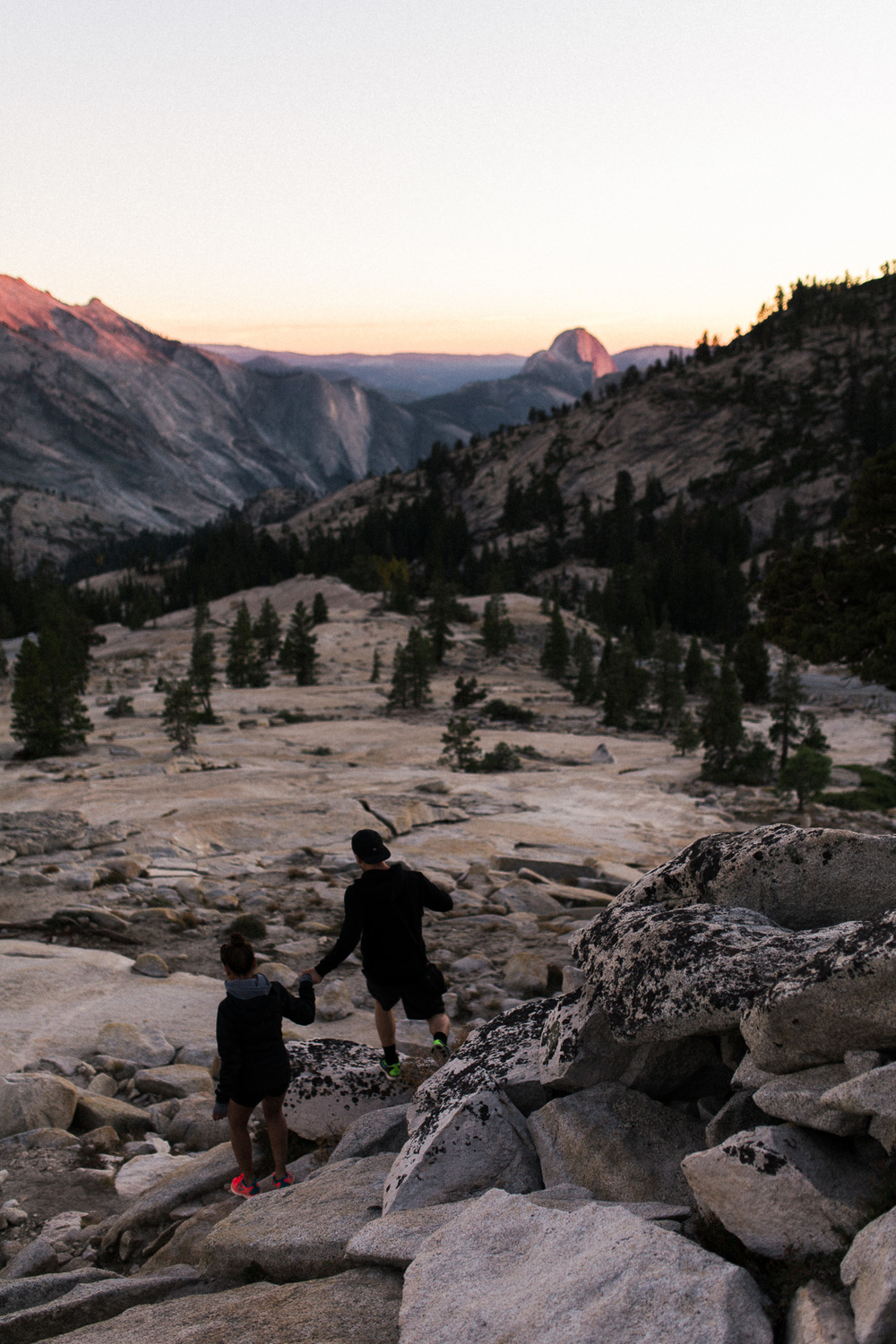 walking-down-rocks-yosemite