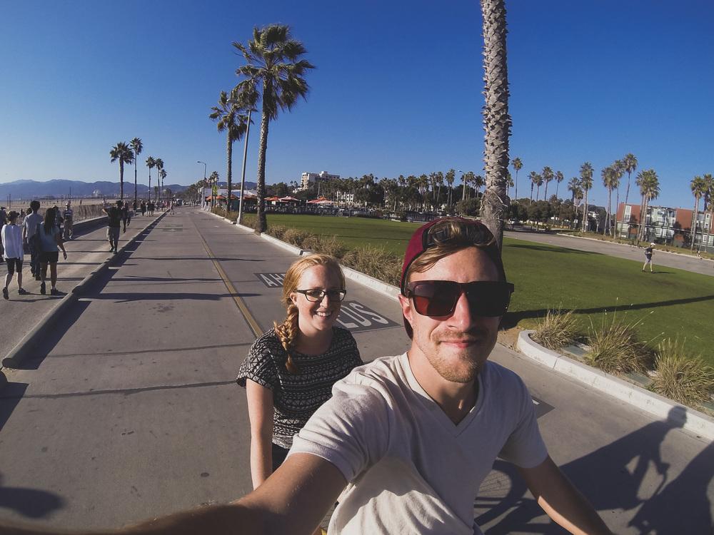 Renting-a-tandem-bike-Venice-Beach-LA