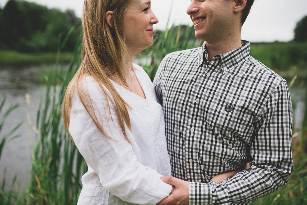 Natural and candid outdoor engagement session Ottawa