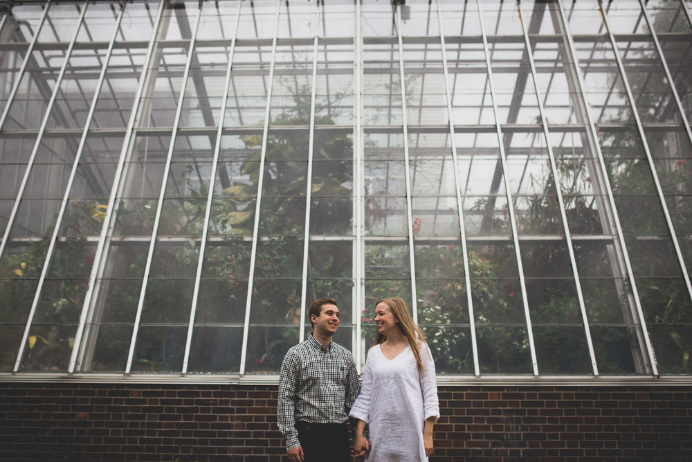 Greenhouse engagement photos Ottawa