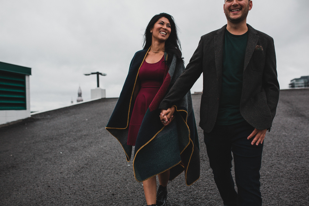 Rooftop Engagement Photos in Ottawa