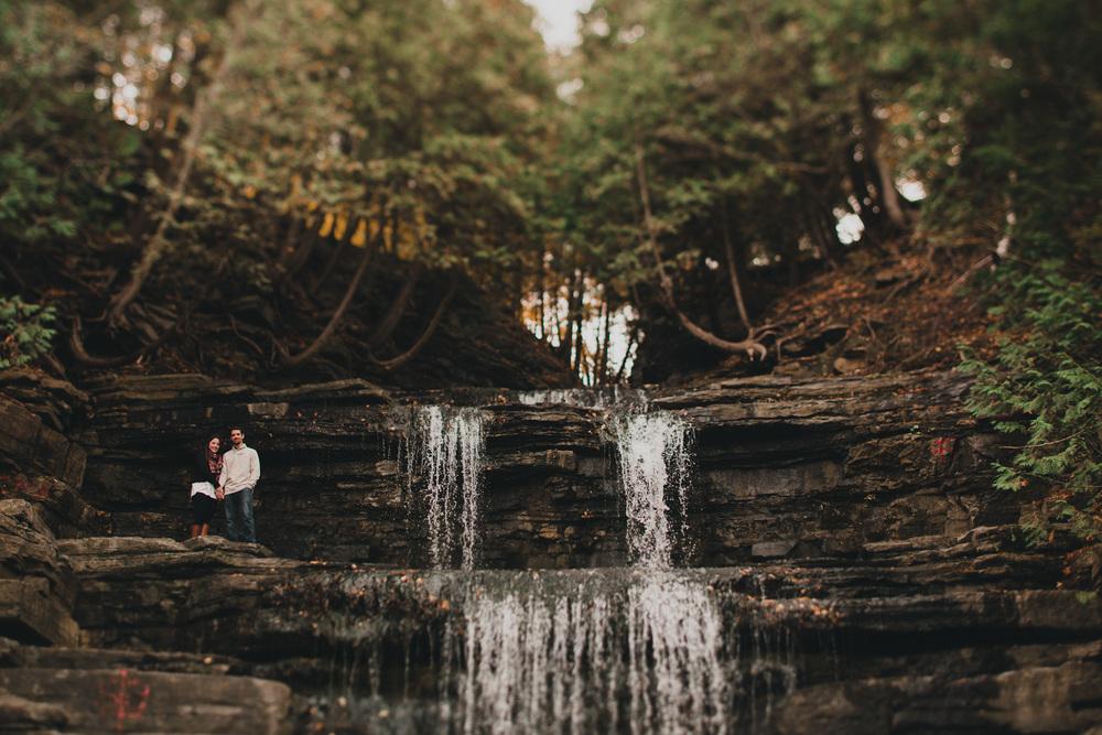 portaits by waterfall in ottawa