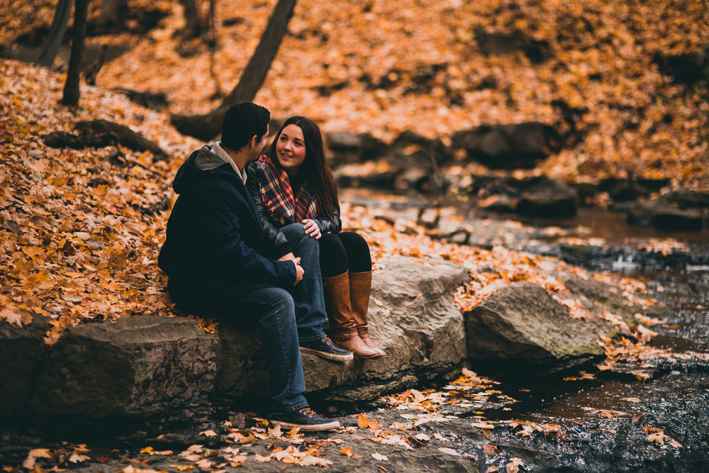 perfect fall engagement session