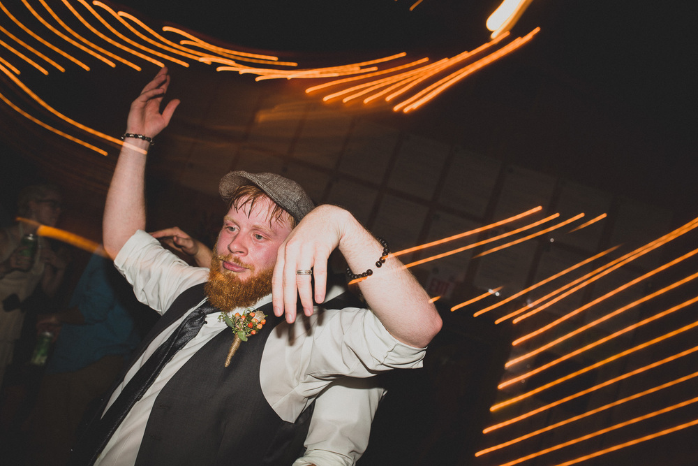 Creative light wedding dance party